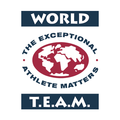 Our Partner world team the exceptional athlete matters world team logo
