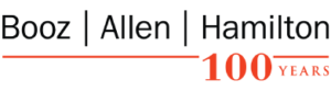 booz allen hamilton 100 years logo type