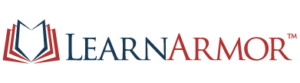 learnarmor logo icon and logo type
