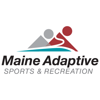 maine adaptive sports and recreation logo type logo icon