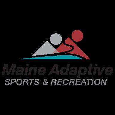 maine adaptive sports and recreation logo type logo icon