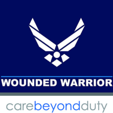 air force wounded warrior carebeyondduty logo type logo icon