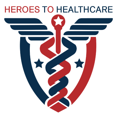 heroes to healthcare logo type logo icon