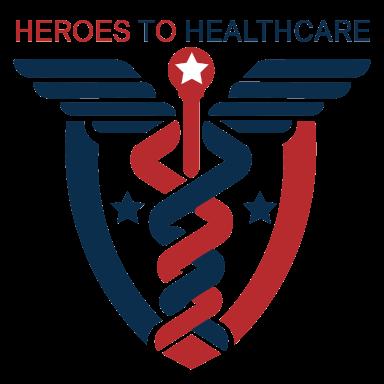 heroes to healthcare logo type logo icon