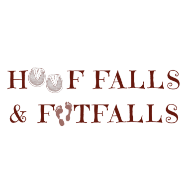 hoof fall and footfalls logo type logo icon