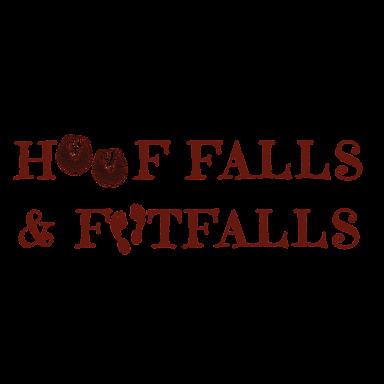 hoof fall and footfalls logo type logo icon