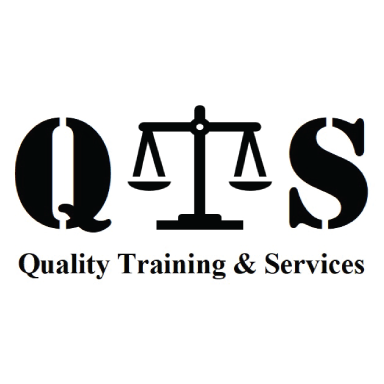 quality training & services logo type logo icon