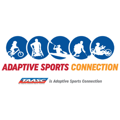 Adaptive Sports Connection logo type logo icon