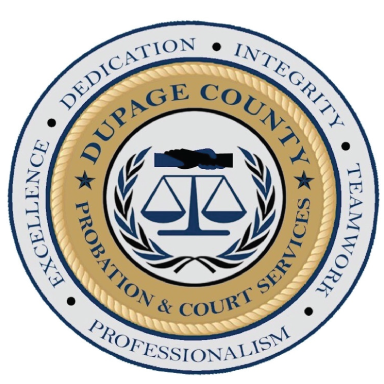 dupage county probation and court services logo type logo icon