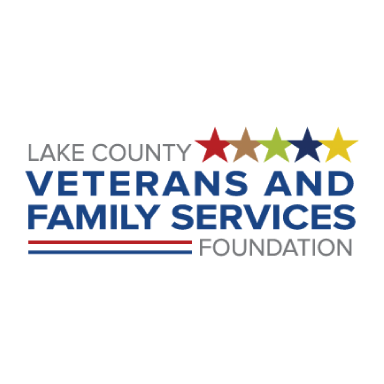lake county veterans and family services foundation logo type logo icon
