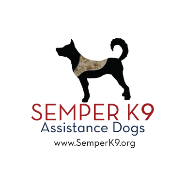semper k9 assistance dogs logo type logo icon