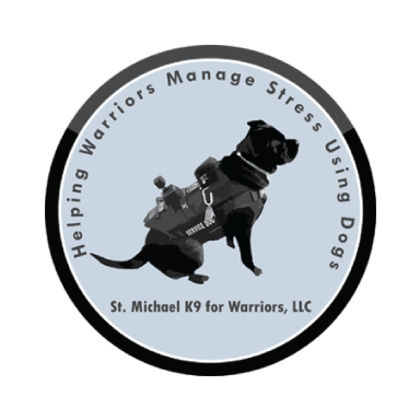 st. michael k9 for warriors, llc logo type logo icon