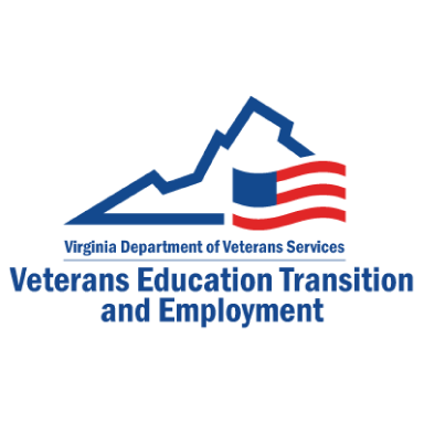virginia department of veteran services logo type logo icon