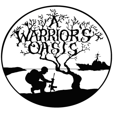 a warrior's oasis logo type logo icon