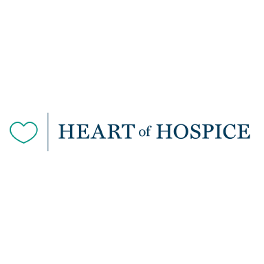 heart of hospice logo type logo icon