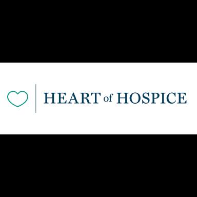 heart of hospice logo type logo icon
