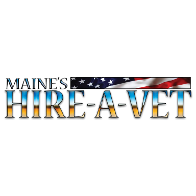 maine's hire a vet logo type logo icon