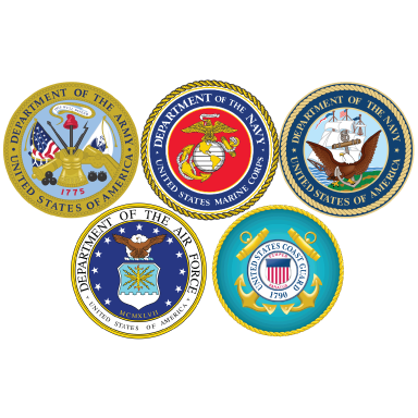 army navy air force and coast guard logo types logo icons