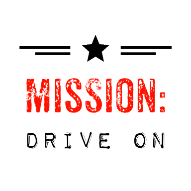 mission drive on logo type logo icon