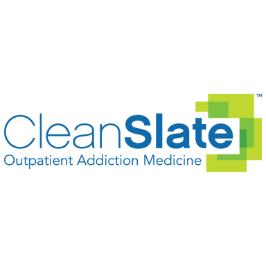 clean slate outpatient addiction medicine logo type logo icon