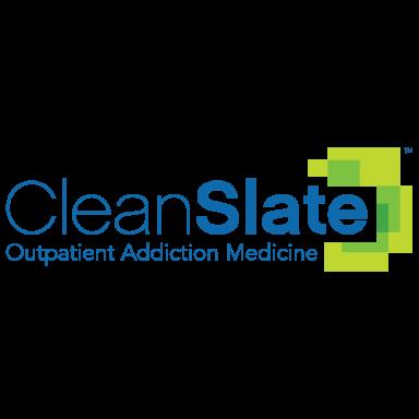 clean slate outpatient addiction medicine logo type logo icon