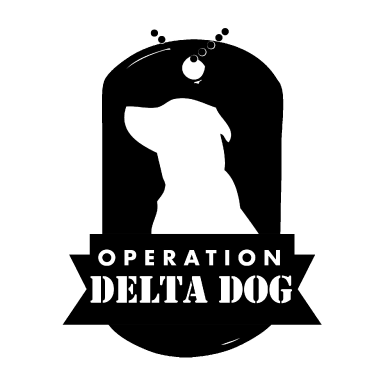operation delta dog logo type logo icon